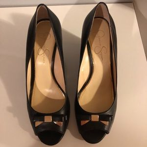 Jessica Simpson Black Wedge Shoes